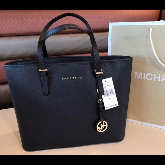 c4d07dd2ac15  278 Michael Kors Jet Set Handbag Purse MK Bag